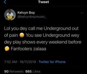 Kelvynboy replies Stonebwoy for blasting him at 4Syte Music Video Awards 2019
