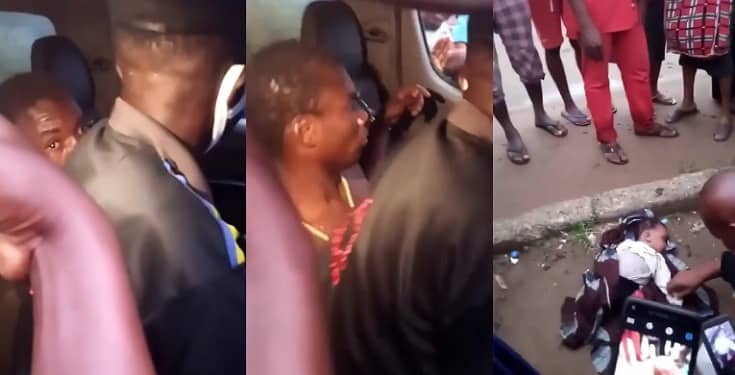 Mad Man Caught With Dead Baby In Abia State - Watch Video