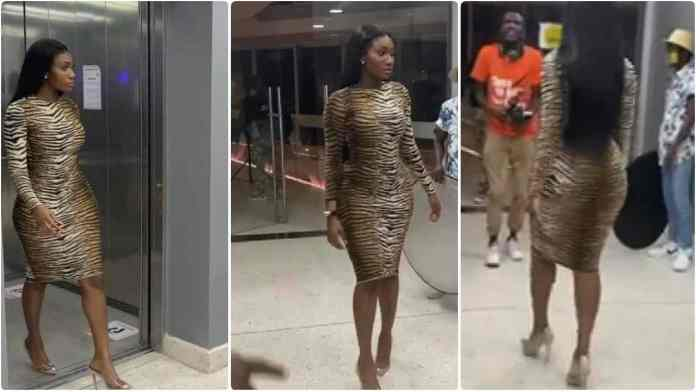 Hot Video of Wendy Shay Struggling to walk in heels at a video shoot goes viral