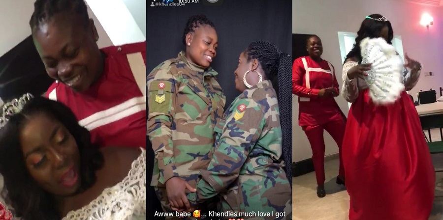 Two beautiful Ghanaian l£sb!ans marry peacefully in Ghana (Videos)