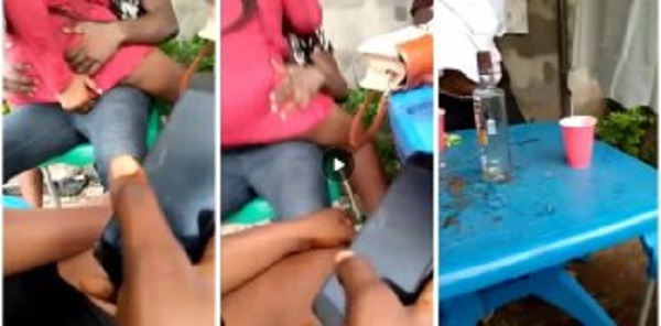 Shocking video of young ladies engaging in a daylight $£× party hits online [Watch]
