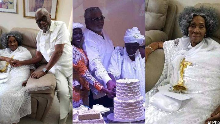 SAD: Jerry John Rawlings' Mother Reportedly Dies Shortly After Her 101 Birthday Celebration Was Held