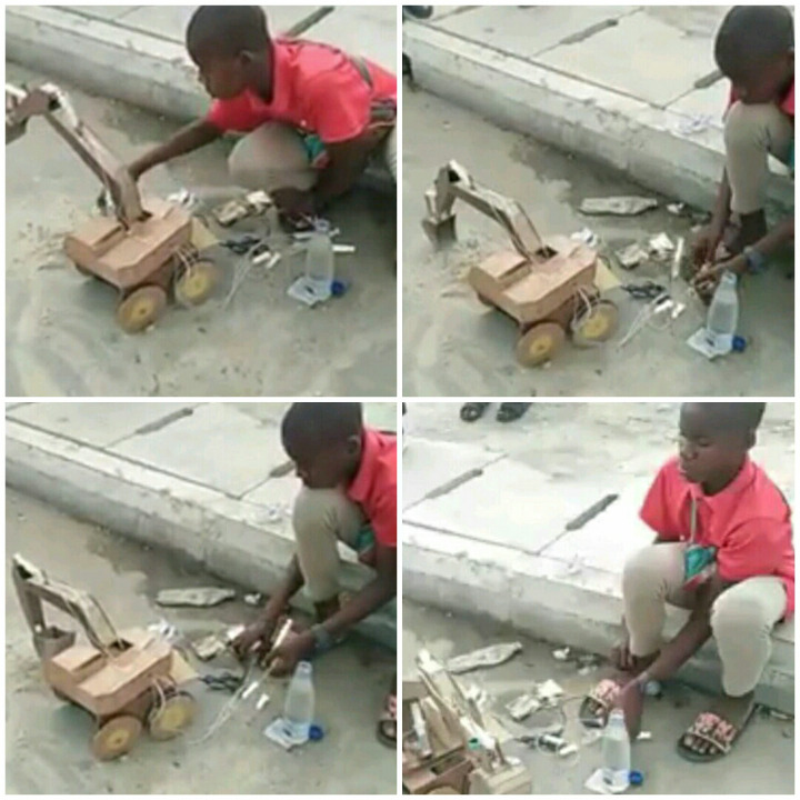 """""""Nana Akufo Addo Should See This"""", Ghanaians Reacts at What a Boy was Seen Doing on the Road"""