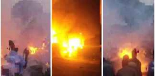 Breaking news: Electoral Commission Office at Fomena razed down by fire [Video]
