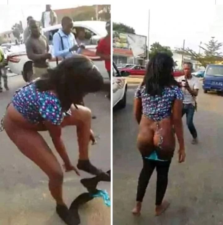 See how a young lady ran mad immediately she alighted from an expensive car