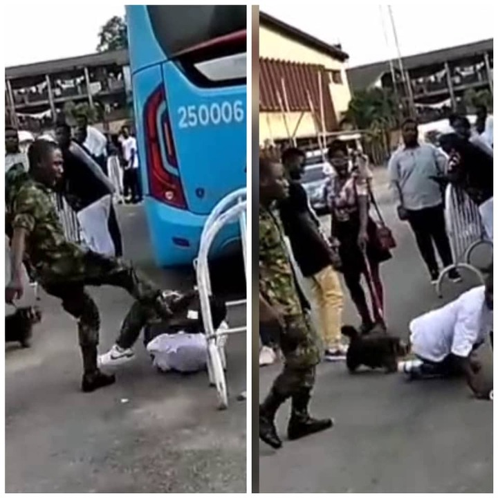 See What Soldiers Were Spotted Doing To Man After They Caught Him Wearing Camo In Public (+Video)