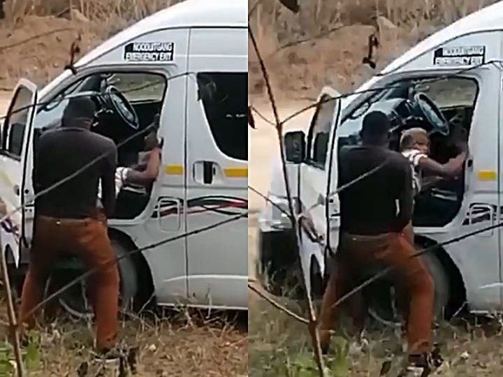 South African Taxi Driver Playing A Bedroom Game Outside; Video Goes Viral