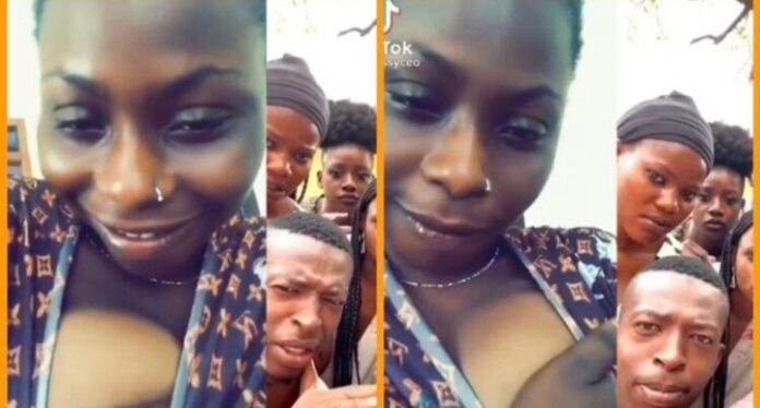 Ghanaian Slay Queen Removes Her Bre@st In A New Tik Tok Video [Watch]