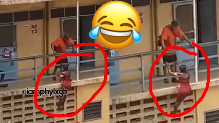 'Akosua Spiderwoman': Video Of ATU Student Climbing Hostel Wall To See Her Boyfriend Is A Whole Mood [WATCH]