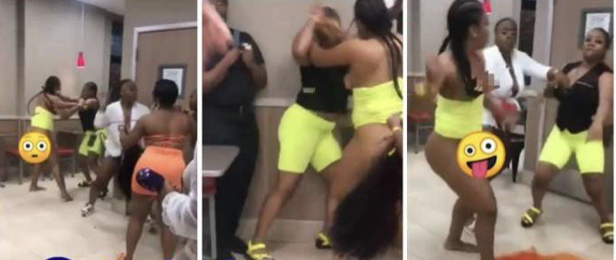 Slay Queens Fight Seriously Over A Man At A Clubhouse (+Video)