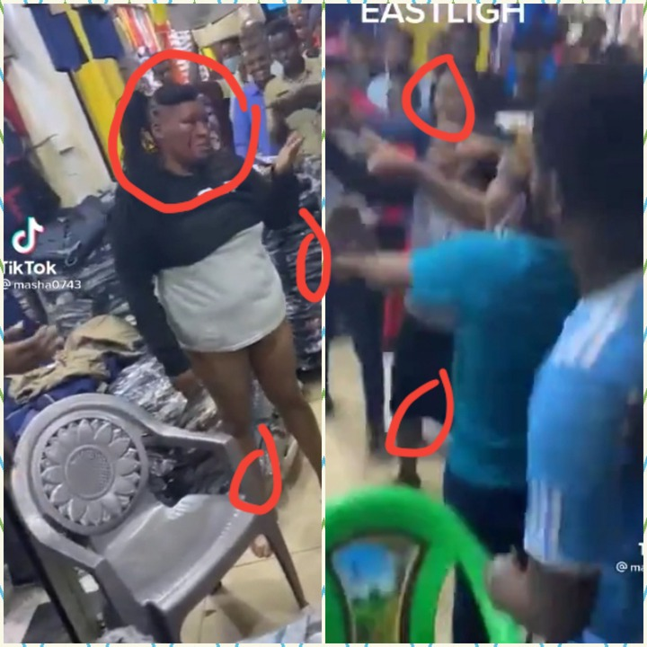 Sad News As A Mother Of Three Beaten By Shoppers For Stealing An Apple Phone(Iphone) In Eastlight Shop In Ghana (+Video)