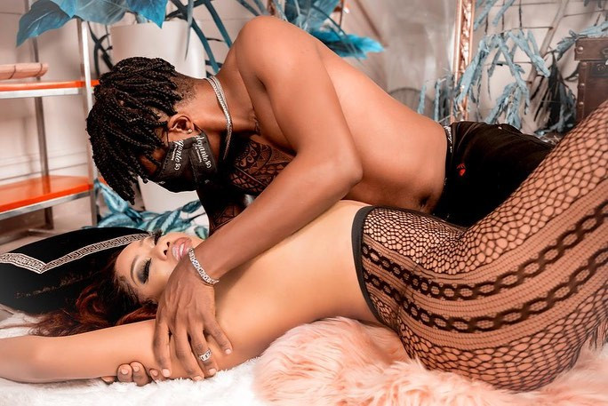 Toyin Lawani shares sultry photos of herself and her fiance as she praises him [WATCH]