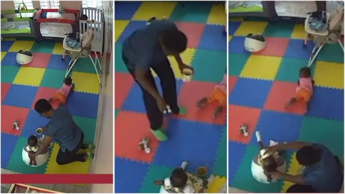 Caregiver caught on camera killing 11-month-old baby with food [Watch]