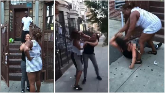 Lady Beat Up Her L£sbian Girlfriend After She Caught Her Pants-Down Cheating With A Man [Watch Video]