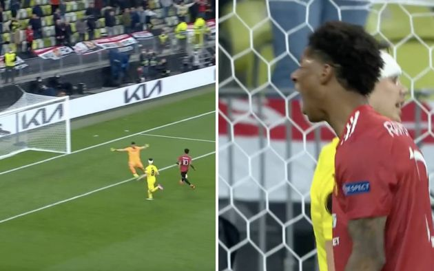 Video: Man United's Marcus Rashford misses sitter in Europa League final before screaming in frustration [WATCH]