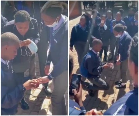 SHS student romantically proposes to girlfriend with ring on campus [watch]