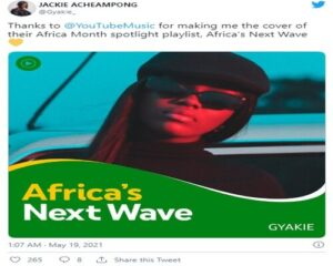 Gyakie Makes Cover Of YouTube's Africa Next Wave Playlist