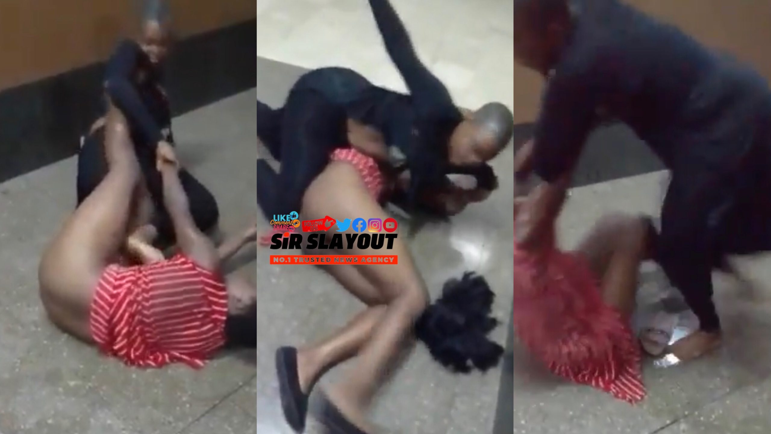 Two Ladies Disgraced Theirselves Over A Taxi Driver Publicly (Watch Video)