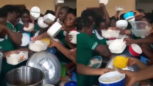 """Ghanaian Trainee Nurses """"F!ght!ng"""" Over Their Lunch Surface Online [Watch Now]"""