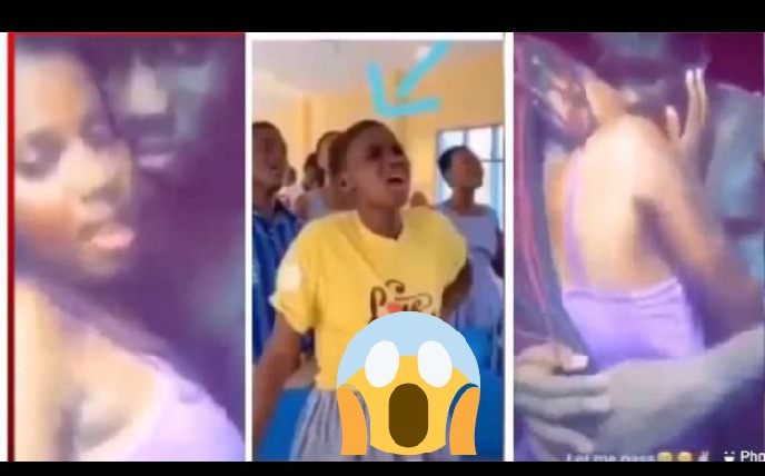 Female SRC President Was Caught Making Out With A Guy In The Temple [Watch Video]