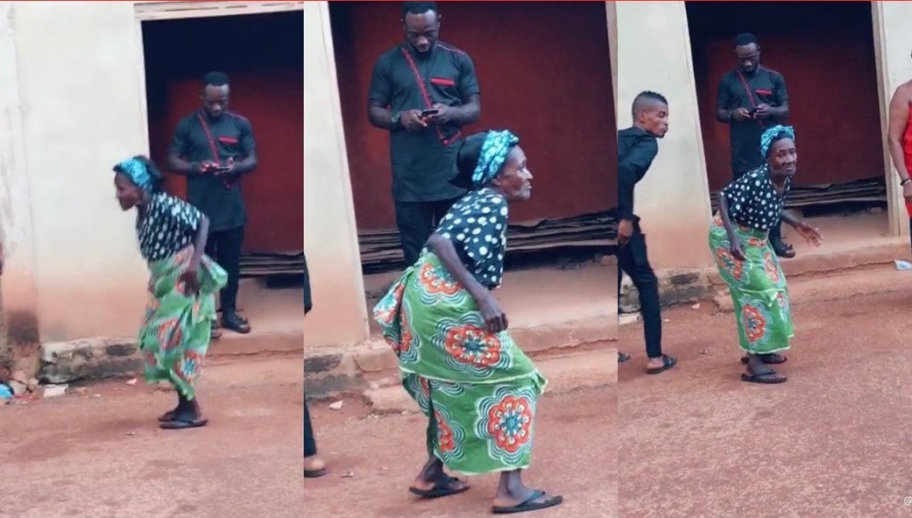 Old Woman Captures Happily Dancing At Her Granddaughter's Funeral (Watch Video)