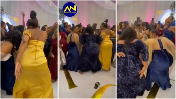 Heavy duty backside ladies causes confusion at a wedding ceremony [Watch]