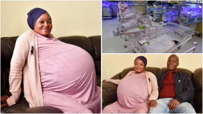 Joy as woman gives birth to 10 children on same day, sets 'new world record'