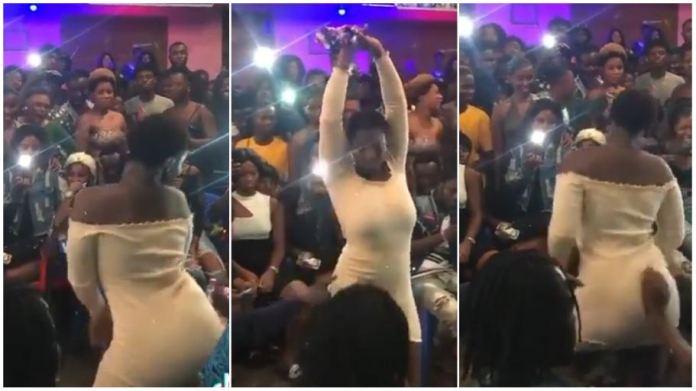 Yawa as man pushes away lady who tried to shake her big Bortos for him [Watch]