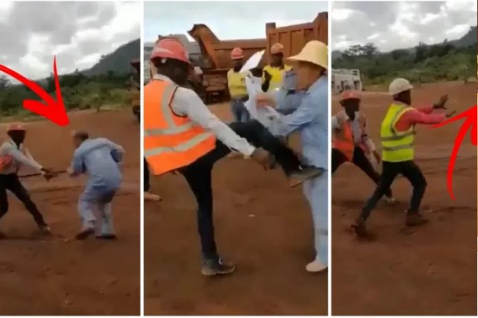 Serious Fight Between Chinese and Black Road Contractor [Watch Video]