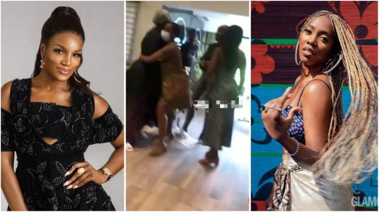 Full Video: Tiwa Savage And Seyi Shay Saloon Fight Trending Hot On The Internet [WATCH]