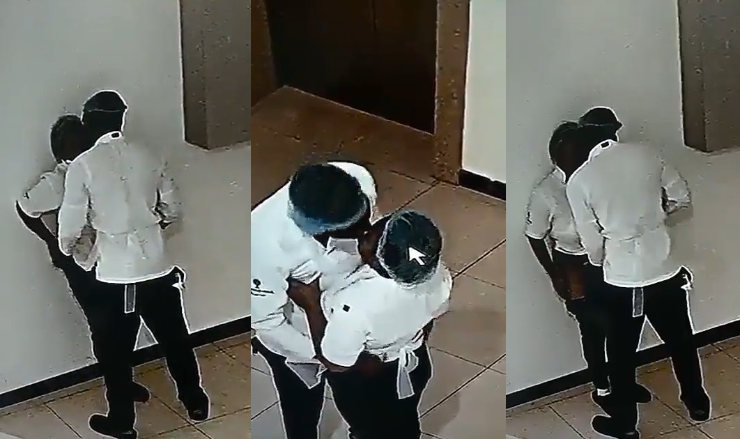 Two Restaurant Cookers Were Captured On CCTV Camera Making Out [WATCH VIDEO]