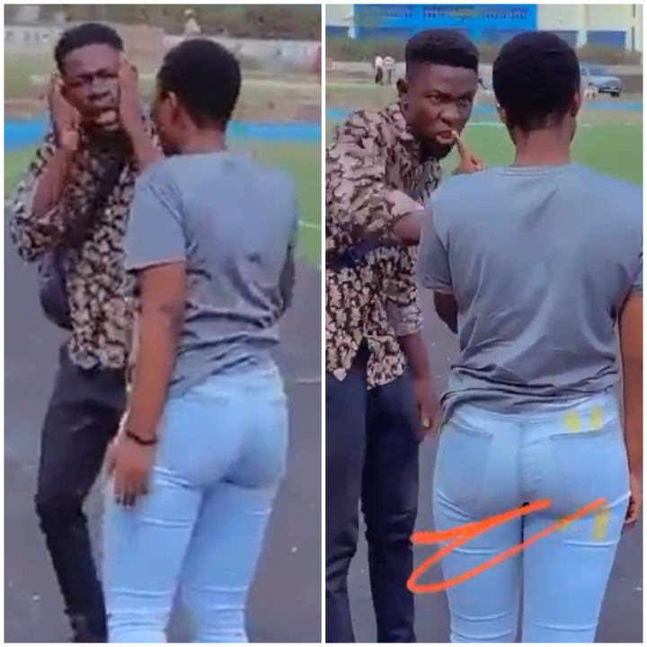 Yawa As Lady Allegedly Slapped A Guy Because He Wanted To Break Up With Her [Watch Video]
