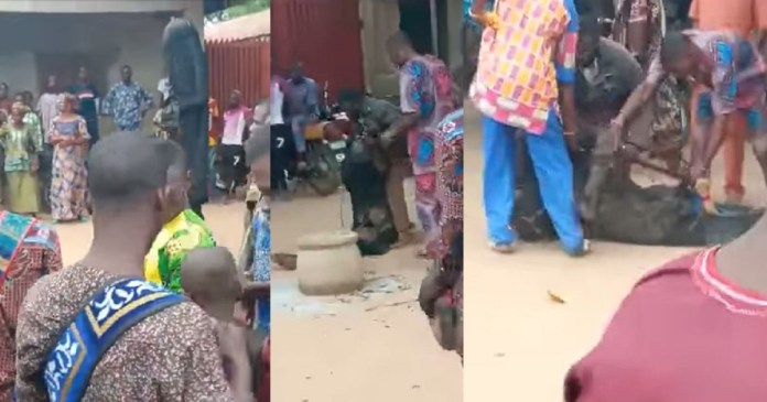 """Shocking as Masquerade failed by his """"spiritual powers"""" as bullets penetrate his body [Video]"""