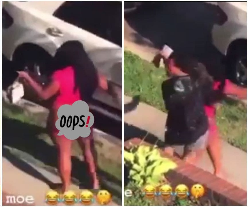 Couple Caught Doing It In Public In Broad Daylight [Watch Video]