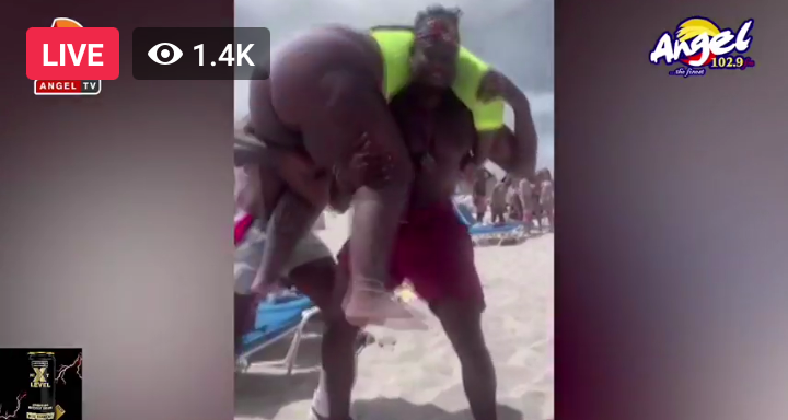 Watch Video Of Man Breaks His Spinal Cord For Trying To Carry His Curvious Girlfriend At Beach